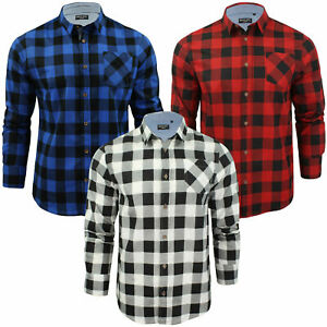 0c412309a Image is loading Brave-Soul-Boys-Girls-Check-Lumberjack-Brushed-Cotton-