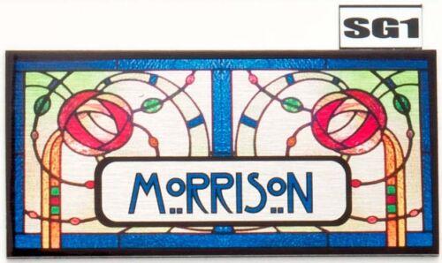 Rennie Macintosh Door nameplate Number  House Sign Plaque