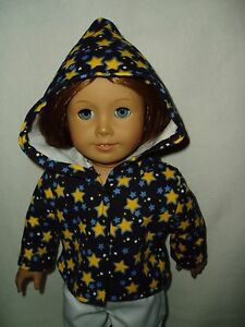 Night-Stars-Fleece-Hoodie-18-034-doll-clothes-fits-American-Girl-dolls-Handmade