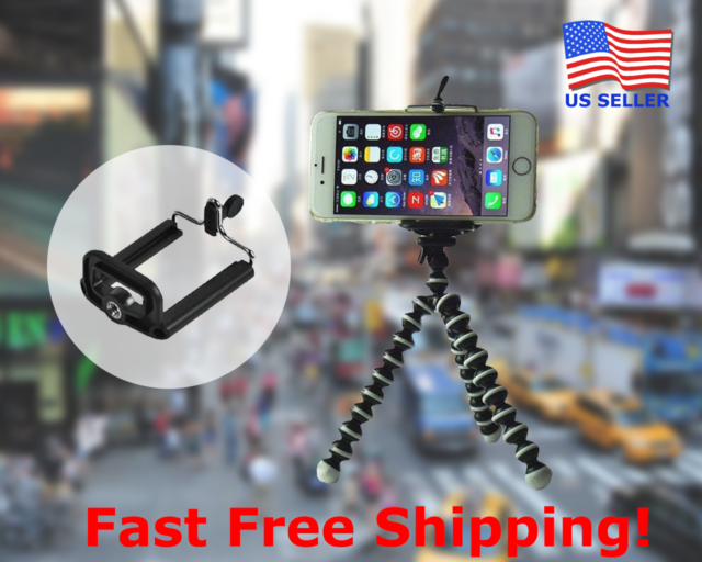 huge discount 95789 76bf8 Best Flexible Octopus Tripod Stand for iPhone 8 Plus iPhone X iPhone 6s 6