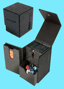 Ultra Pro Pro Tower Deck Box Black 3 Compartment Game Card