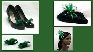 New-emerald-green-shoe-clips-or-hair-clip-brooch-corsage