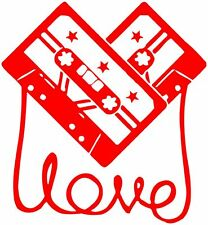 Cassett Love  ,  vinyl wall,car,van decal sticker