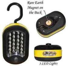 27 Led Work Light W/ Swivel Hanging Hook & Magnet Yellow & Black Emergency Light