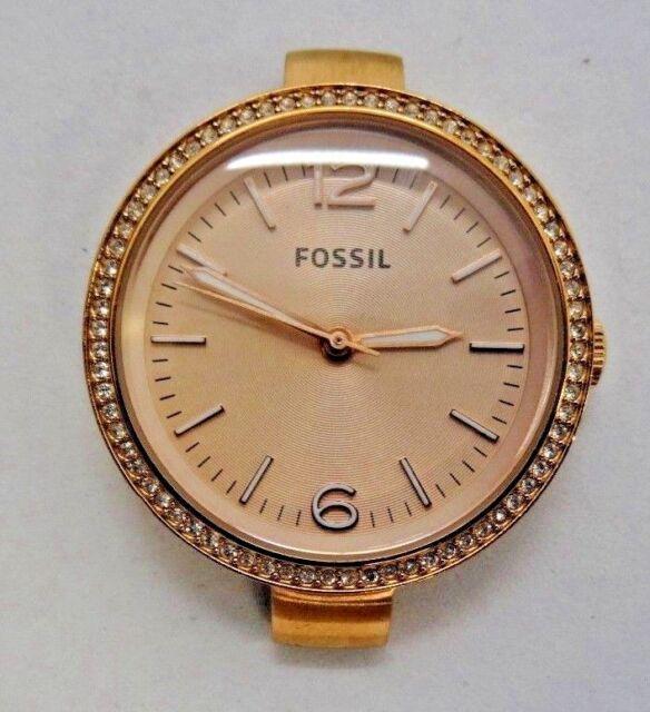 6eae9356bc3 Fossil Women s Georgia ES3565 Brown Leather Quartz Watch for sale ...