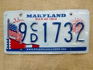 American-number-plate-licence-plate-license-Maryland-vintage-man-cave-USA-old