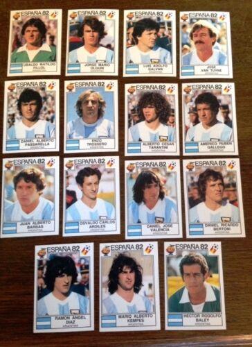 Panini stickers espana 82 all Argentina Team Mint high grade choose sticker