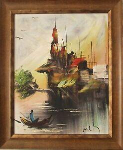 Original Oil Painting on Canvas, Post-Impressionist - Nature Scene, Signed
