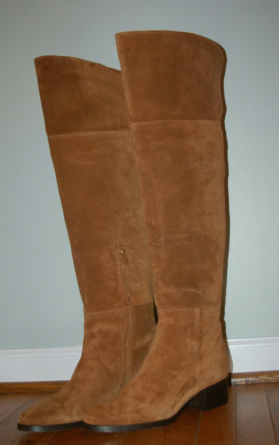 JCrew  348 348 348 Suede Stacked Over-The-Knee Boots Sz 6.5 Brown F8010 AVL 273475
