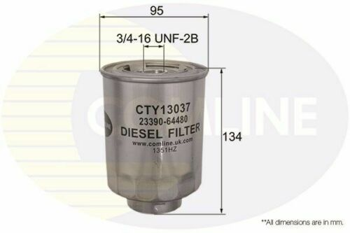 Fuel Filter FOR TOYOTA HIACE III 2.5 01-/>06 Diesel H1 H2 LH1 LXH1 RZH1 Comline