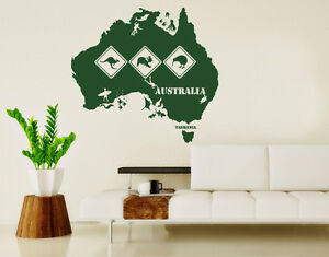 Australia wall decal sticker mural vinyl home decor ebay Home decor wall decor australia