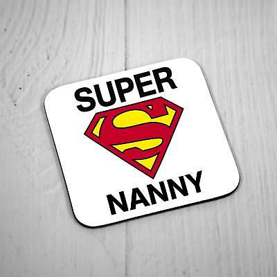Nanny to Be Coaster Place Mat New Baby Shower Gift Bumble Bee Square 9cm x 9cm