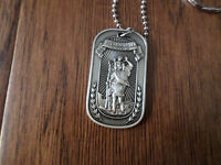 St. Christopher Protect Us Religious Dog Tag Marine Corps Army Navy Air Force