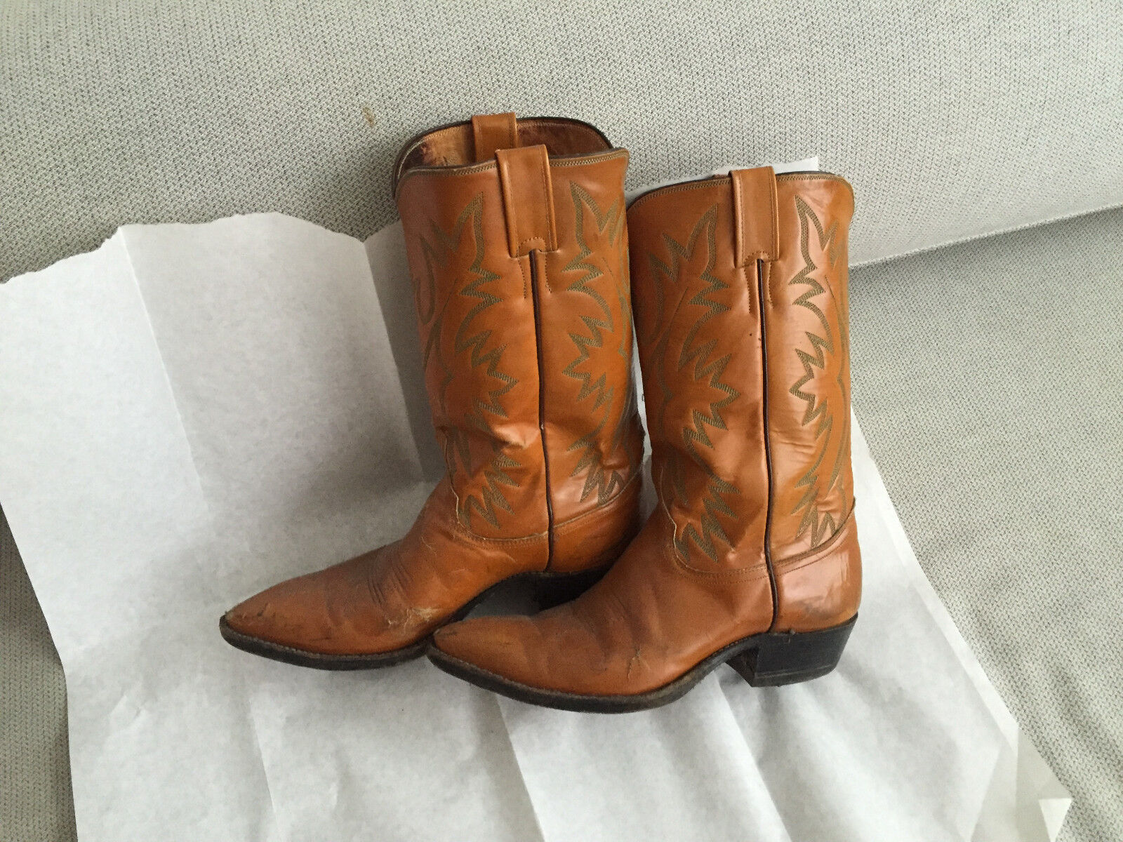 MEN'S JUSTIN gold LEATHER WESTERN COWBOY BOOTS SHOES 8 1 2 E STYLE 2912 SEXY