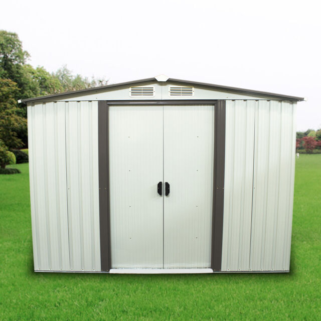 8u0027x6u0027 Outdoor Yard Garden Storage Shed Steel Garage Utility Tool Building  Lawn
