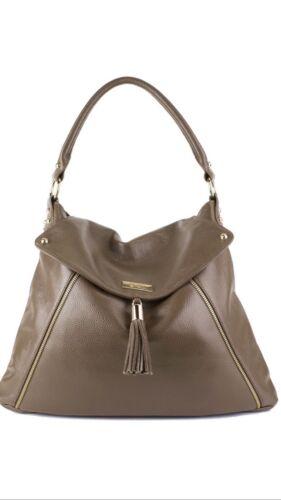 """Onna Ehrlich /""""Kelly Style/"""" Cafe Au Lait Handbag"""