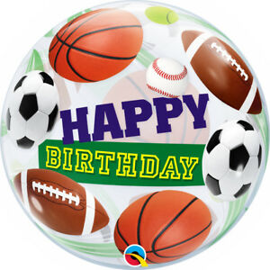 SPORTS-BALLS-BUBBLE-BALLOON-22-034-BIRTHDAY-SEE-THRU-BUBBLE-LARGE-QUALATEX-BALLOON