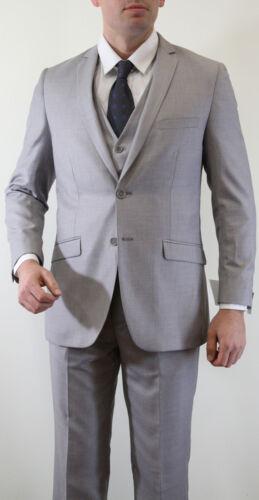 NEW ULTRA SLIM FIT MEN/'S SOLID SUIT FORMAL PROM DANCE BEST MAN GROOMSMEN WEDDING