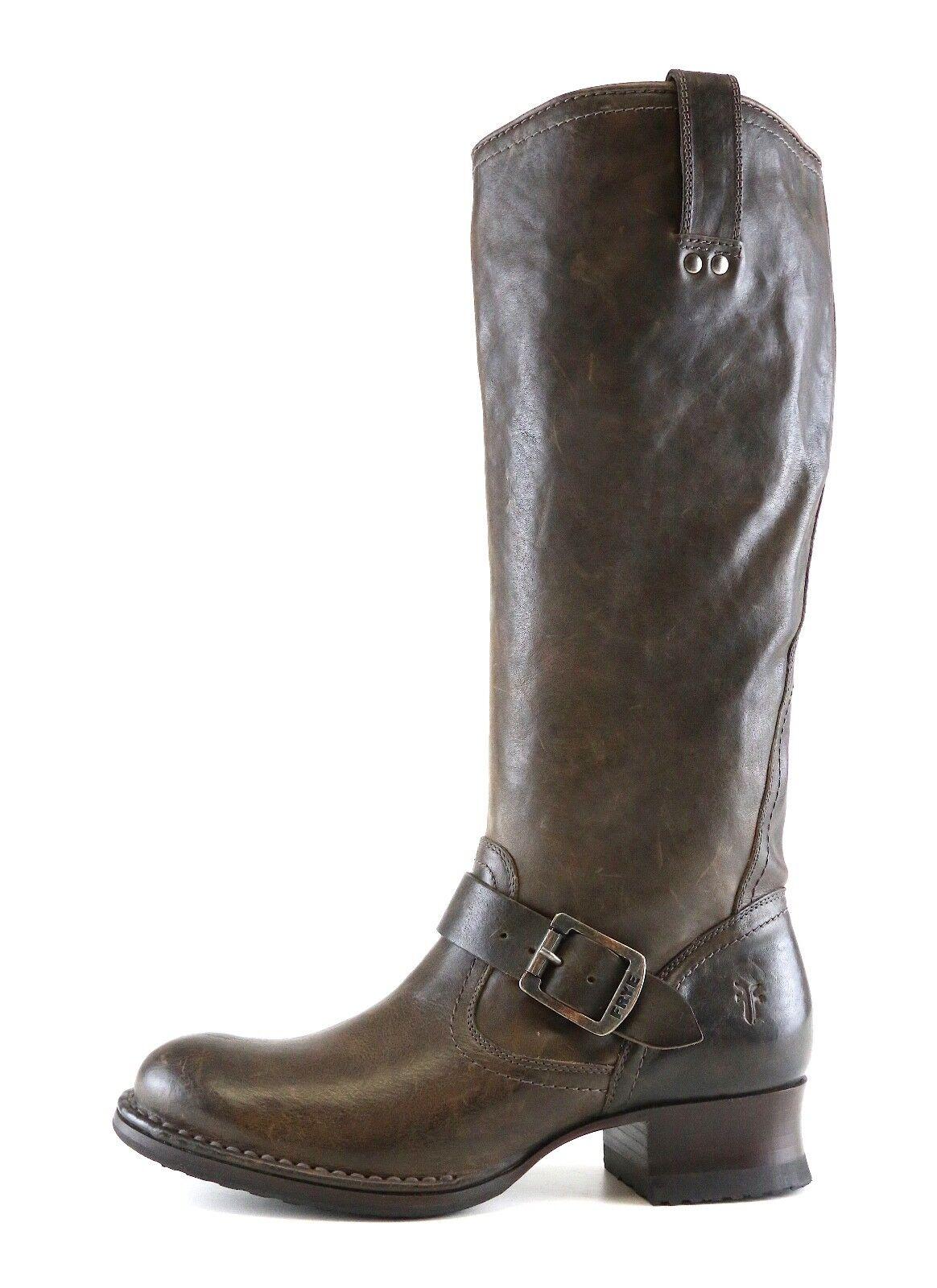 FRYE Martina Engineer Leather Round Toe Leather Engineer Stiefel Dark braun damen Sz 6 B 6707  c5af4d