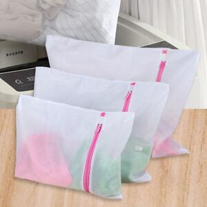 Image Is Loading 3x Laundry Washing Mesh Net Zipped Wash Bag