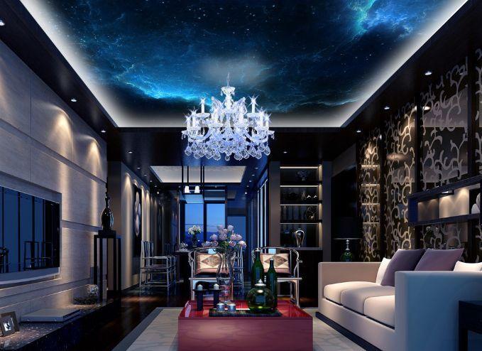 3D Star Cloud Sky Ceiling WallPaper Murals Wall Print Decal Deco AJ WALLPAPER GB
