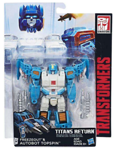 Transformers Titans Return Deluxe Class Autobot Freezeout /& Topspin