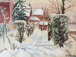 Watercolour-Landscape-Snowy-Signed-D-Homage