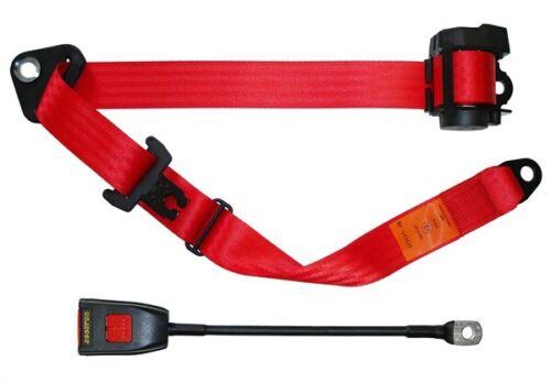 Auto Lap /& Diagonal Seat Belt Red 500//45RED SECURON