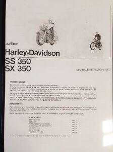 Libretto d'uso e manutenzione per AERMACCHI Harley-Davidson 350 SS e SX del 1973