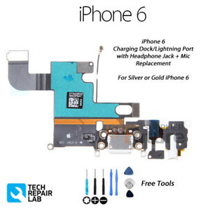 huge selection of 26350 48da8 Details about NEW Lightning Connector/Charging Dock/Port + Headphone Jack  Repair FOR iPhone 6