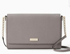 6d7efa3fea59 Details about NWT Kate Spade Tilden Place Alek Grey Crossbody Shoulder Bag  Purse