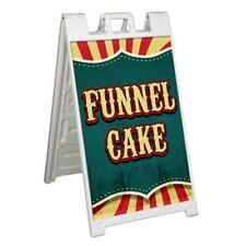 Funnel Cake Signicade 24x36 Aframe Plastic Sidewalk Sign Carnival Fair Food