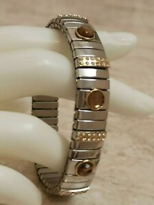 Smoky-Quartz-Bracelet-SILVER-Gemstone-Jewelry-2ct-Swarovski-crystal-bangle-HMADE