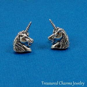 Blue Unicorn Earrings - Sterling Silver Oq3d450