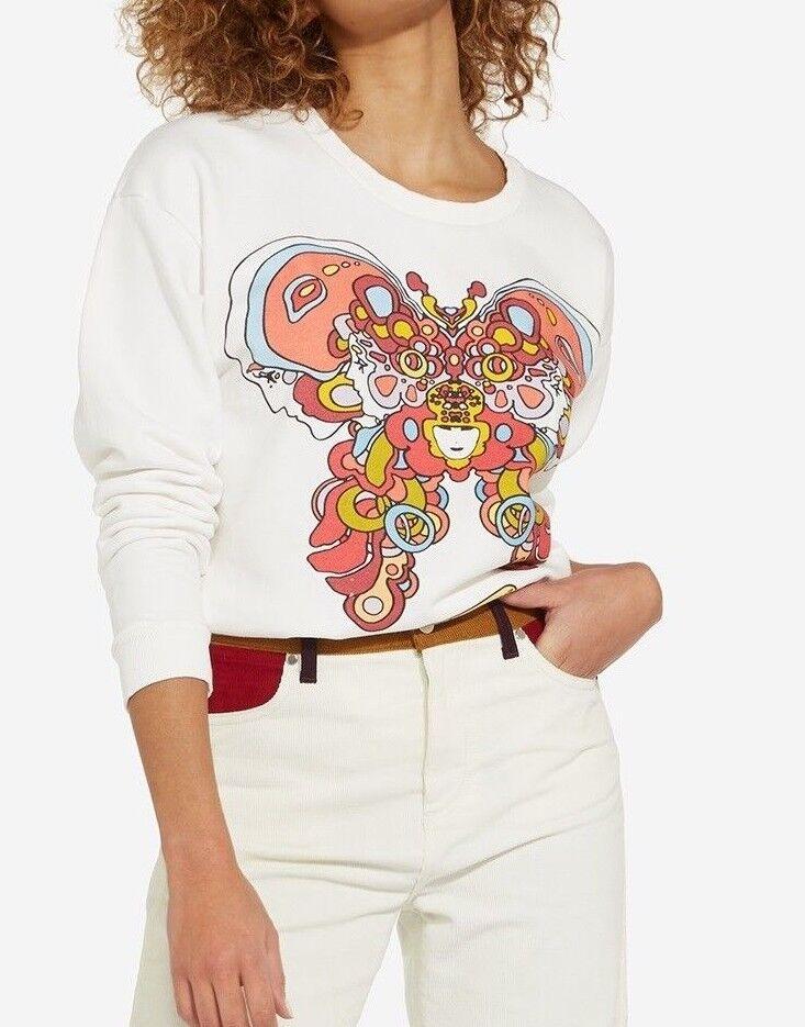 Neu Wrangler von Peter Max   Schmetterling   Sweatshirt Sweat Kunst XS S