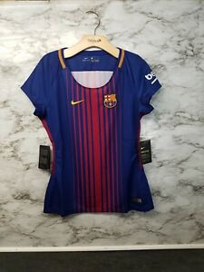 huge discount 2eba6 253c0 Details about Nike FC BARCELONA SOCCER JERSEY WOMENS Small New 90$  847226-457 New