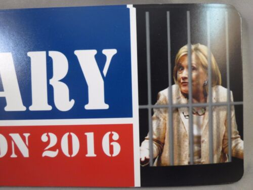 WHOLESALE LOT OF 8 HILLARY FOR PRISON 2016 MAGNET sticker TRUMP president $ USA