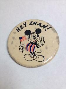Rare Anti wWar Mickey Mouse pin / Button