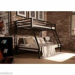 Twin Over Full Bunk Beds Kids Boys Girls Bedroom Furniture