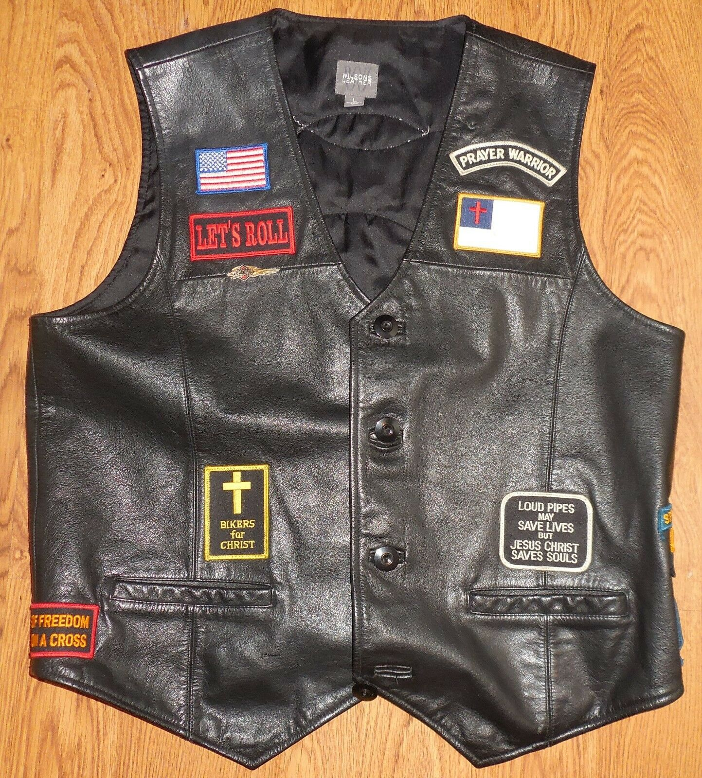 Wilson Leather Harley Davidson Biker Vest Church Special Forces Ranger Airborne