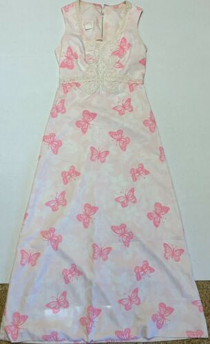 Vintage Lilly Pulitzer Dress 1960's Butterfly Maxi