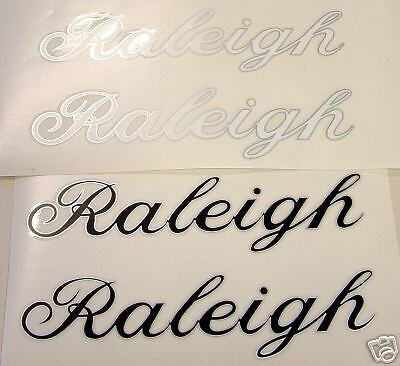 Vintage Raleigh DT decals White //Silver or Black//Silver