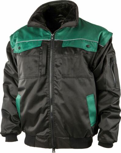 Albatros pilotos chaqueta 4 en 1 Allrounder desmontable mangas-negro//verde