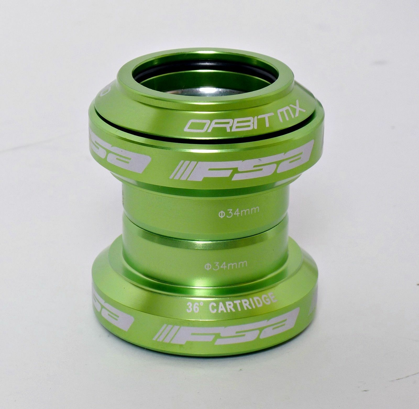FSA Orbit MX Threadless 1-1 8 Bicycle Headset 34mm  – Green  high quality & fast shipping