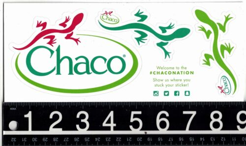 CHACO THREE STICKER SHEET Chaco White 9 in x 3.75 in 3 Decal Sheet