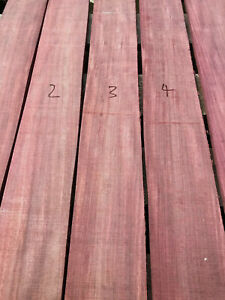 Ripple flame figure purpleheart guitar fingerboard fretboard blank quartersawn