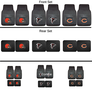 NFL-2pc-and-4pc-Mat-Sets-Heavy-Duty-Cars-Trucks-SUVs-ALL-TEAMS-Choose-Team