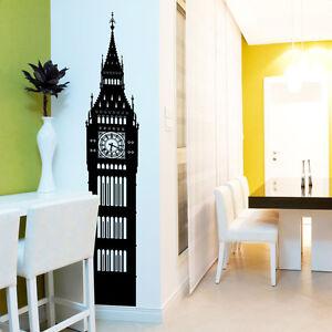 Big-Ben-Londres-mur-fenetre-Vinyle-Stickers-Autocollants-vinyle-Home-Decor-Colore-A144