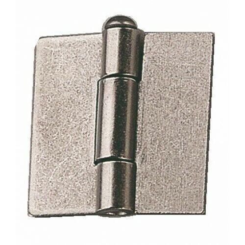 Charnières américaines à souder-acier décap-hauteur 60 mm-largeur 60 mm MONIN