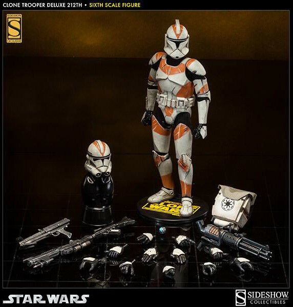 Clone Wars Militaries of Star Wars Figure - Clone Clone Clone Trooper Deluxe 212th Sideshow 6aa344